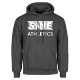 Charcoal Fleece Hoodie-SIUE Cougars Stacked