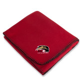 Red Arctic Fleece Blanket-SIUE Cougars Official Logo