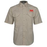Khaki Short Sleeve Performance Fishing Shirt-SIUE