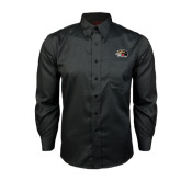 Red House Black Long Sleeve Shirt-SIUE Cougars Official Logo
