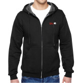 Black Fleece Full Zip Hoodie-SIUE