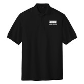 Black Easycare Pique Polo-SIUE Cougars Stacked