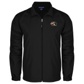 Full Zip Black Wind Jacket-SIUE Cougars Official Logo