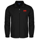 Full Zip Black Wind Jacket-SIUE