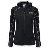 Columbia Ladies Sweet As Black Hooded Jacket-SIUE Cougars Official Logo