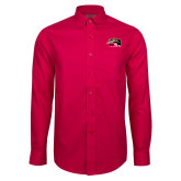 Red House Red Long Sleeve Shirt-SIUE Cougars Official Logo