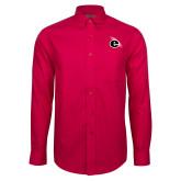 Red House Red Long Sleeve Shirt-e Slash Mark