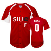 Replica Red Adult Baseball Jersey-Personalized