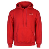 Red Fleece Hoodie-SIUE Cougars Stacked