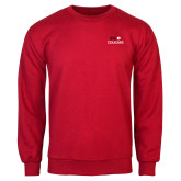 Red Fleece Crew-SIUE Cougars Stacked