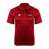 Adidas Climalite Red Jaquard Select Polo-SIUE Cougars Stacked