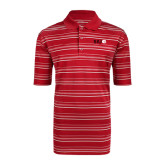 Adidas Climalite Red Textured Stripe Polo-SIUE