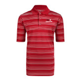 Adidas Climalite Red Textured Stripe Polo-SIUE Cougars Stacked