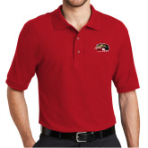 Red Easycare Pique Polo-SIUE Cougars Official Logo