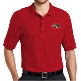 Red Easycare Pique Polo-SIUE Cougars Official Logo