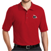 Red Easycare Pique Polo-e Slash Mark