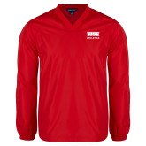 V Neck Red Raglan Windshirt-SIUE