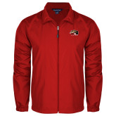 Full Zip Red Wind Jacket-SIUE Cougars Official Logo