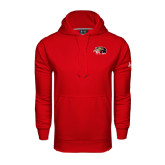 Under Armour Red Performance Sweats Team Hoodie-SIUE Cougars Official Logo