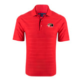 Red Horizontal Textured Polo-SIUE Cougars Official Logo