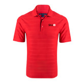 Red Horizontal Textured Polo-SIUE