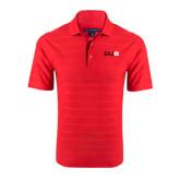 Red Horizontal Textured Polo-SIUE
