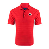 Red Horizontal Textured Polo-e Slash Mark