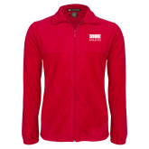 Fleece Full Zip Red Jacket-SIUE