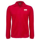 Fleece Full Zip Red Jacket-SIUE