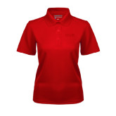 Ladies Red Dry Mesh Polo-SIUE Tone