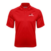 Red Textured Saddle Shoulder Polo-SIUE Arched Cougars