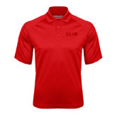 Red Textured Saddle Shoulder Polo-SIUE Tone