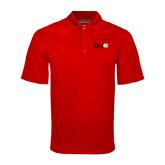 Red Mini Stripe Polo-SIUE