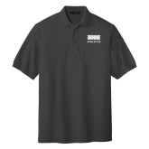 Charcoal Easycare Pique Polo-SIUE Cougars Stacked