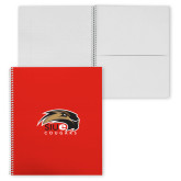 College Spiral Notebook w/Clear Coil-SIUE Cougars Official Logo