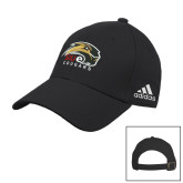 Adidas Black Slouch Unstructured Low Profile Hat-SIUE Cougars Official Logo