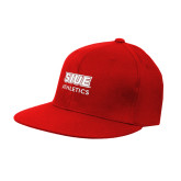 Red OttoFlex Flat Bill Pro Style Hat-SIUE