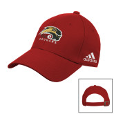 Adidas Red Slouch Unstructured Low Profile Hat-SIUE Cougars Official Logo