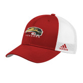 Adidas Red Structured Adjustable Hat-SIUE Cougars Official Logo