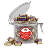 Snickers Satisfaction Round Canister-SIUE Cougars Official Logo