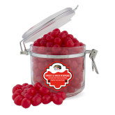 Sweet & Sour Cherry Surprise Round Canister-SIUE Cougars Official Logo