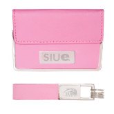 Business Card Case and Key Ring Set Pink-SIUE Engraved