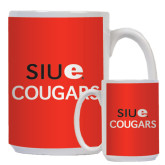 Full Color White Mug 15oz-SIUE Arched Cougars