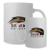 Full Color White Mug 15oz-SIUE Cougars Official Logo