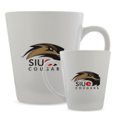 Full Color Latte Mug 12oz-SIUE Cougars Official Logo