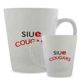 Full Color Latte Mug 12oz-SIUE Arched Cougars