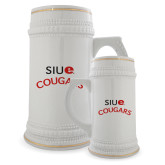 Full Color Decorative Ceramic Mug 22oz-SIUE Arched Cougars