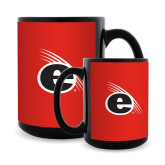 Full Color Black Mug 15oz-e Slash Mark