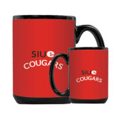 Full Color Black Mug 15oz-SIUE Arched Cougars