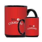Full Color Black Mug 15oz-SIUE Arched Cougars